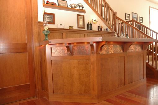 Custom Made Craftsman Bar And Wine Room