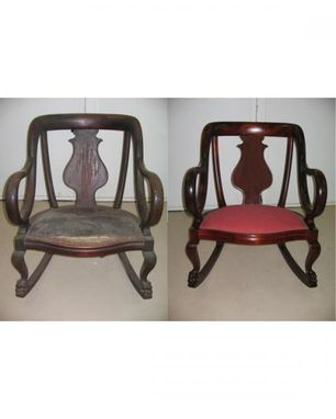 Custom Made Antique Rocking Chair Restoration And Refinishing
