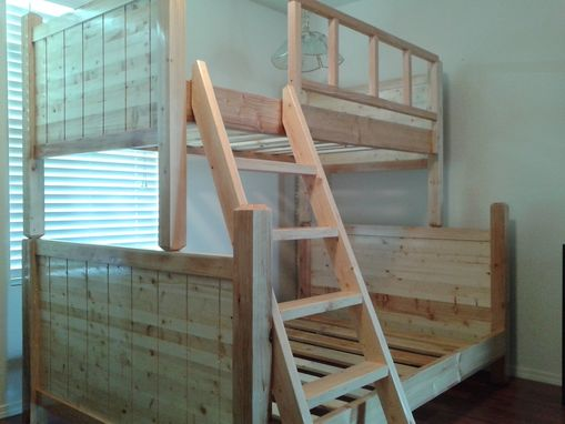 custom bunk bed pottery barn style by treasure valley woodcrafts. Black Bedroom Furniture Sets. Home Design Ideas