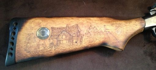 Handmade Custom Burned Gun Stock By San Diego Custom Wood