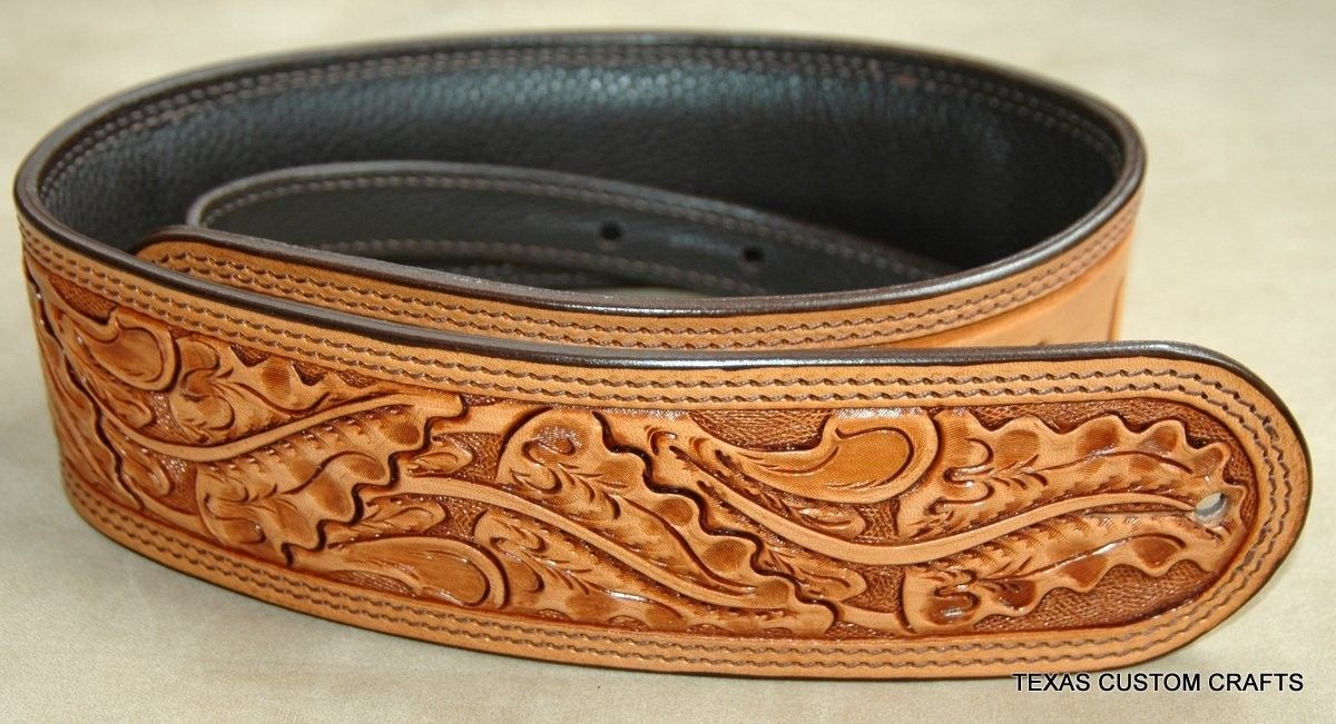 Handmade Leather Guitar Strap By Texas Custom Crafts