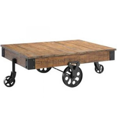 Custom Made Reclaimed Warehouse Dolly Cart Coffee Table