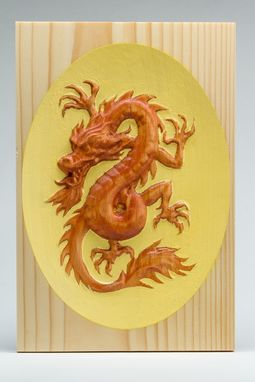 Custom Made Dragon - Carved And Hand Painted