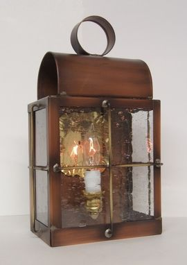 "Custom Made Solid Copper Outdoor Lantern ""Barn Lamp"""
