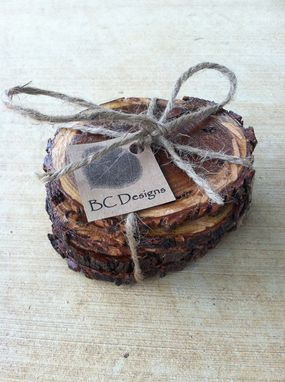 Custom Made Coasters, Texas Mesquite Wood Coasters - Set Of 6