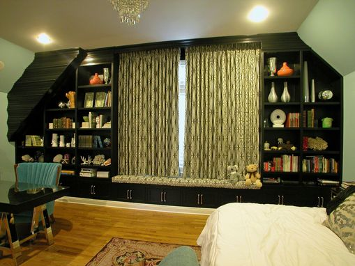 Custom Made Bedroom Wall Angled Cabinetry
