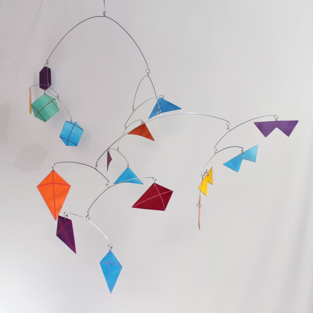 custom baby mobile  kites for your nursery or cool kids room by  - custom made baby mobile  kites for your nursery or cool kids room