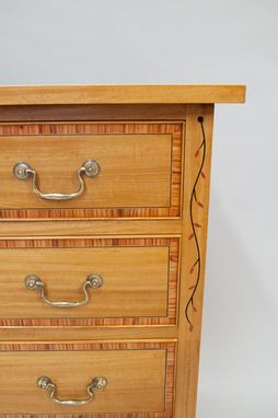 Custom Made Satinwood Federal Style Four Drawer Chest