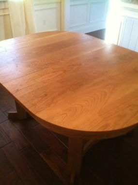 Custom Made Cherry Oval Dining Table (Extends To 8 Ft)