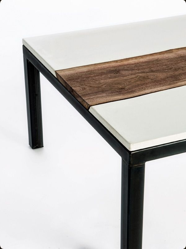 Buy a Hand Made Concrete, Walnut, And Steel Coffee Table, made to order  from Concrete Pete | CustomMade.com