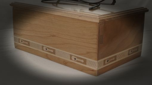 Custom Made Cherry Keepsake Box With Guitar Inlay Banding