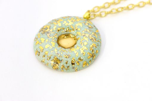 Custom Made Sea Urchin Porcelain Pendant Necklace With 22k Gold