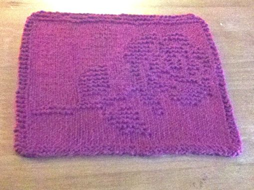 Custom Made Single Rose Knitted Cotton Cloth For Bathroom, Kitchen, And More