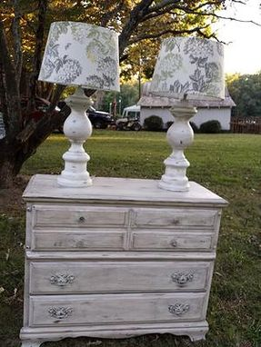 Custom Made Cream And Grey Aged Chest