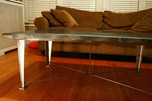 Custom Made Soapstone Guilded Age Coffee Table