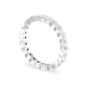 Custom Made Diamond Eternity Ring In 14k White Gold, Forever Ring, Promise Ring