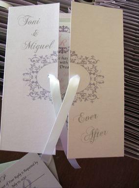 Custom Made 100 Beautiful Violet  Metallic Gatefold Invitation Suites