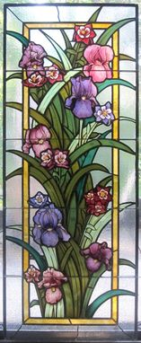 Custom Made Iris Grouping Stained Glass