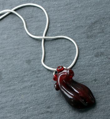 Custom Made Anatomical Glass Heart Necklace