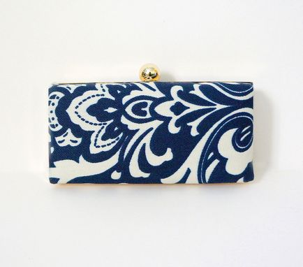 Custom Made Damask-Printed Clutch Purse