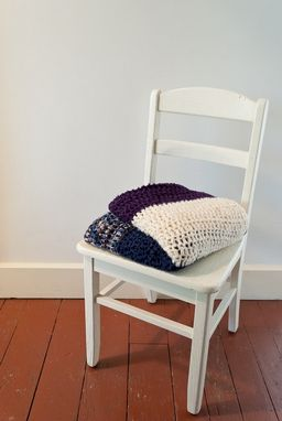 Custom Made Purple, Navy, And Nightfall Bamboo Blanket - Made To Order