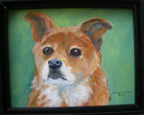 Custom Made Custom Dog Pet Portrait Of Scout