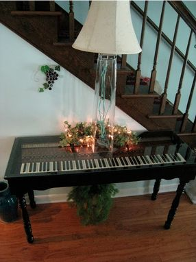 Custom Made Repurposed Piano Key Sofa Table