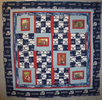 Custom Made Custom Courtship Photo Quilt