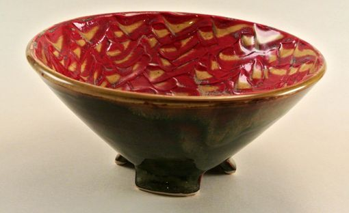 Custom Made Red Footed Stoneware Bowl