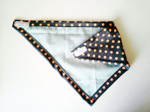 Custom Made Neon Orange Polka Dot Bandana Bib For Baby