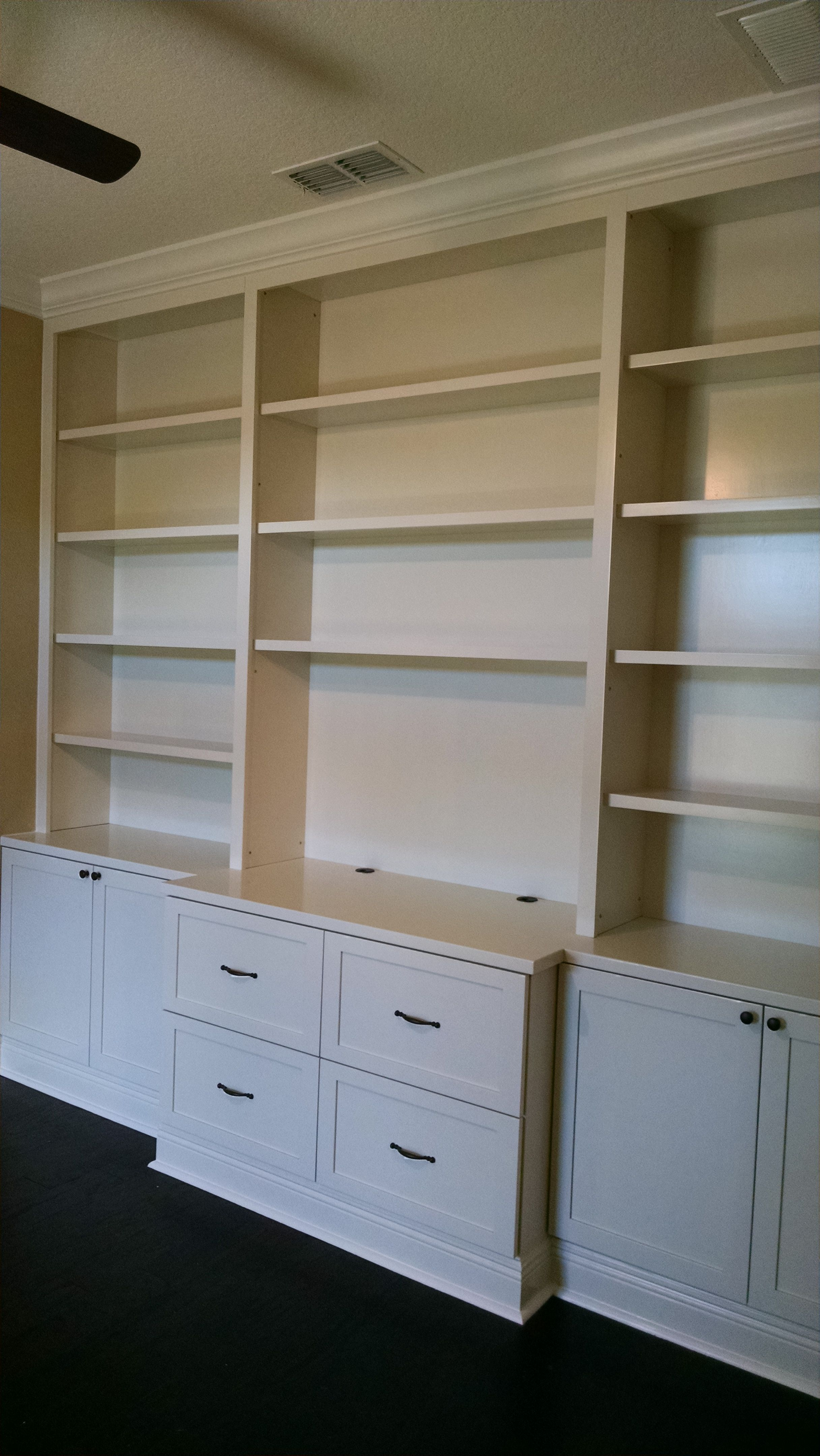 Custom Built In Office Bookcase By Custom Craft Woodworks