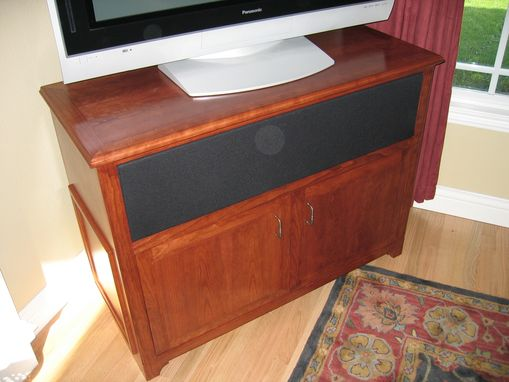 Custom Made Cherry Tv Stand