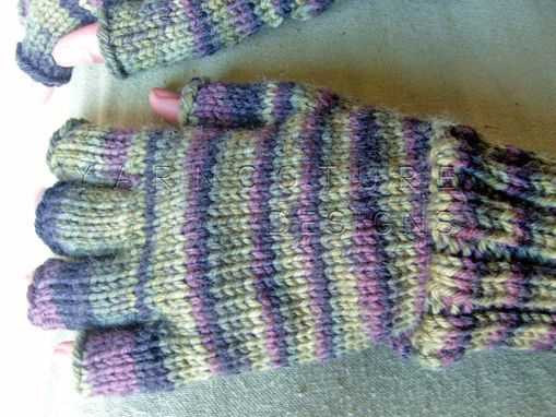 Custom Made Half Fingered Mitts Unisex - In Camouflage