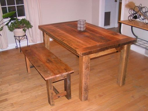 Custom Made Reclaimed Lumber Farm Table