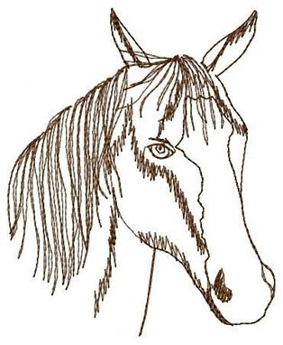 Custom Made Horse Head Embroidery Design