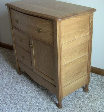 Custom Made Oak Dressing Table/Commode