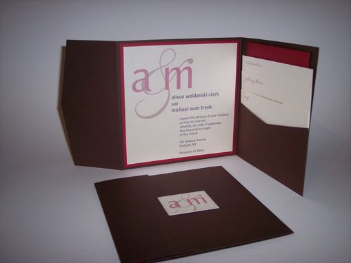 Custom Made Custom Pocket Wedding Invitations