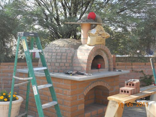 Custom Made Pizza Oven And Built-In Bbq