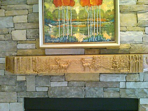 Custom Made Mantel - Rocky Mountain