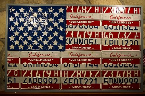 Custom Made License Plate Flag