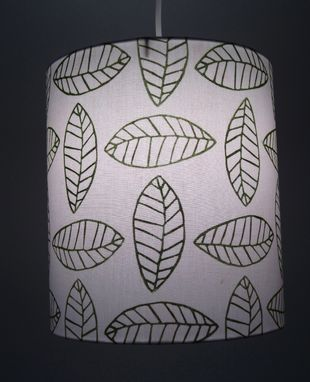 Custom Made Hand Printed Pendant Lamp Shade