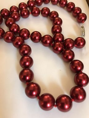 Custom Made Swarvoski Red Pearl Necklace