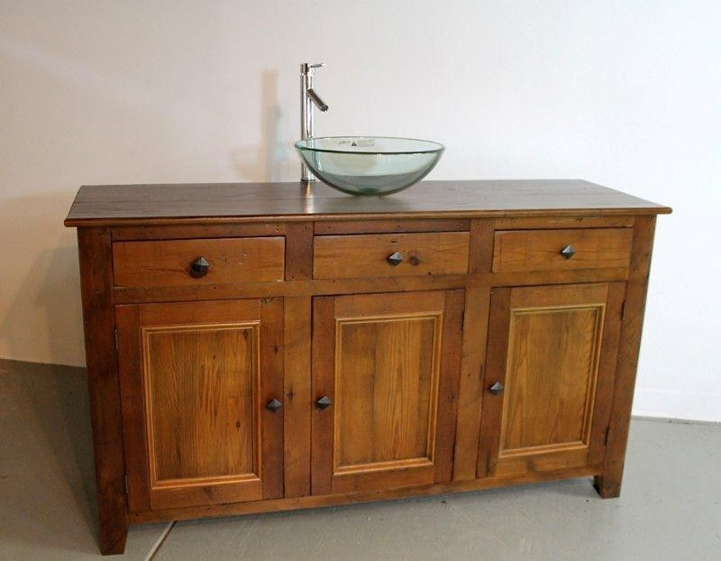 Rustic Style Vanity From Reclaimed Old