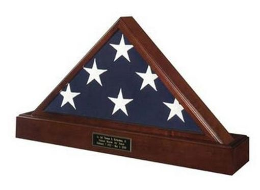 Custom Made Marine Corps Flag And Pedestal Case