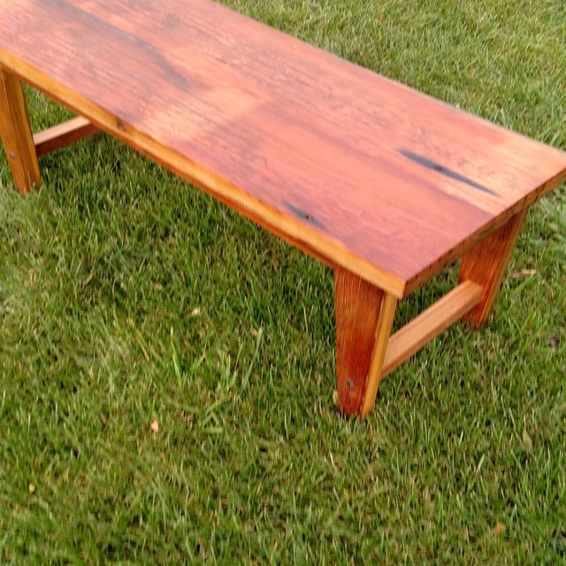 A Hand Made Heinz Pickle Wood Bench To Order From Re Dwell Custommade