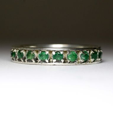 Custom Made Emerald Eternity Band