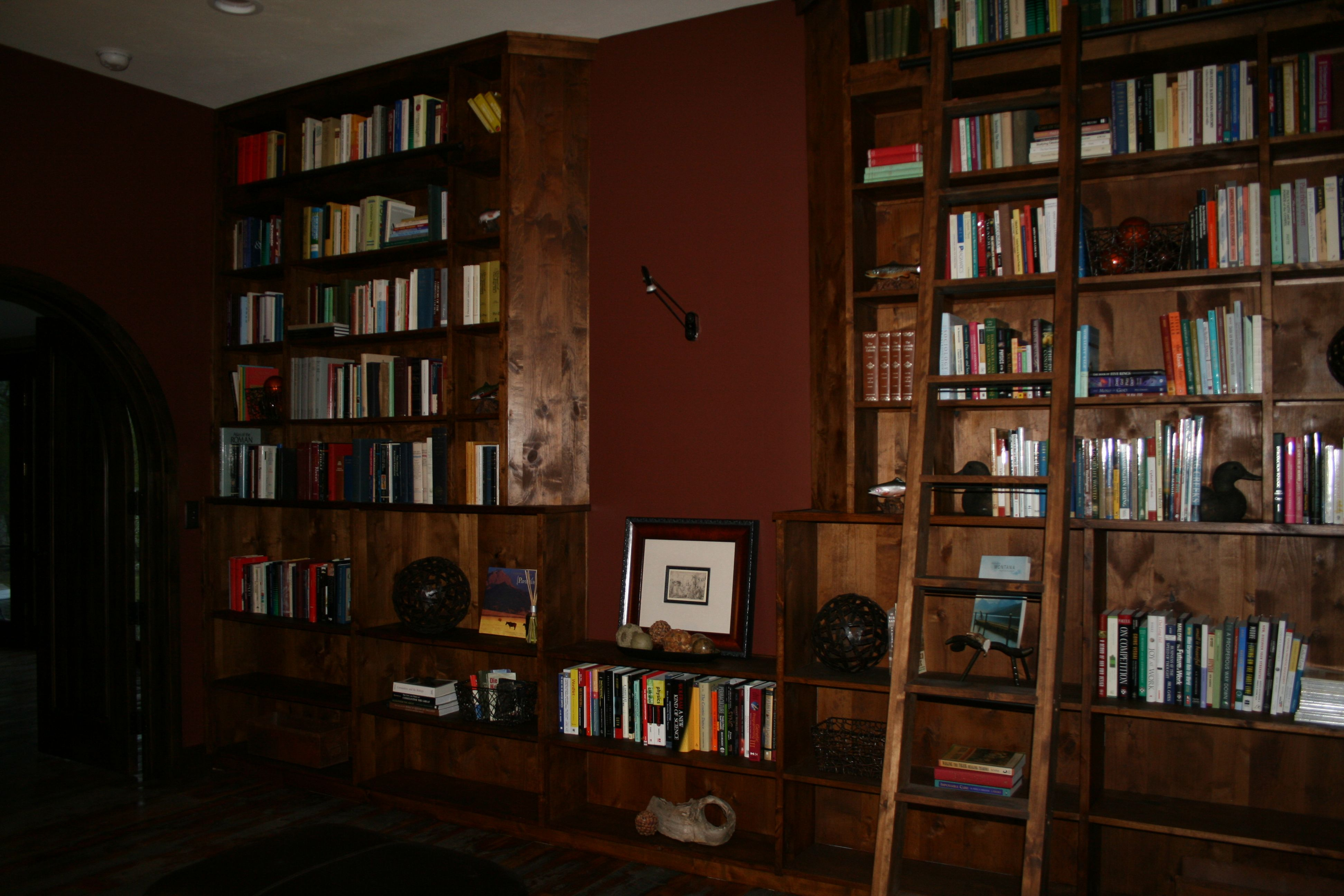 Custom Made Built In Library Office Space By Allamerican