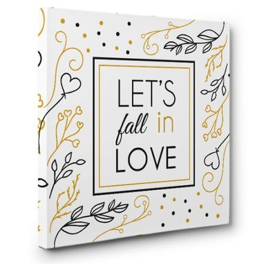 Custom Made Let'S Fall In Love Canvas Wall Art