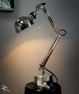 Custom Made Jacobs Wwii Chrome Engine Desk Lamp