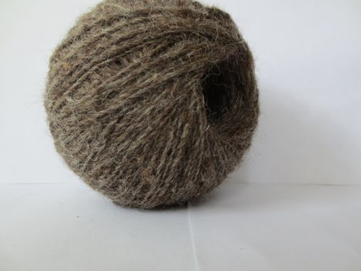 Custom Made Hand Spun Natural Yarn / Hand Spun Brown Yarn / Handspun Yarn / Lace Weight Yarn